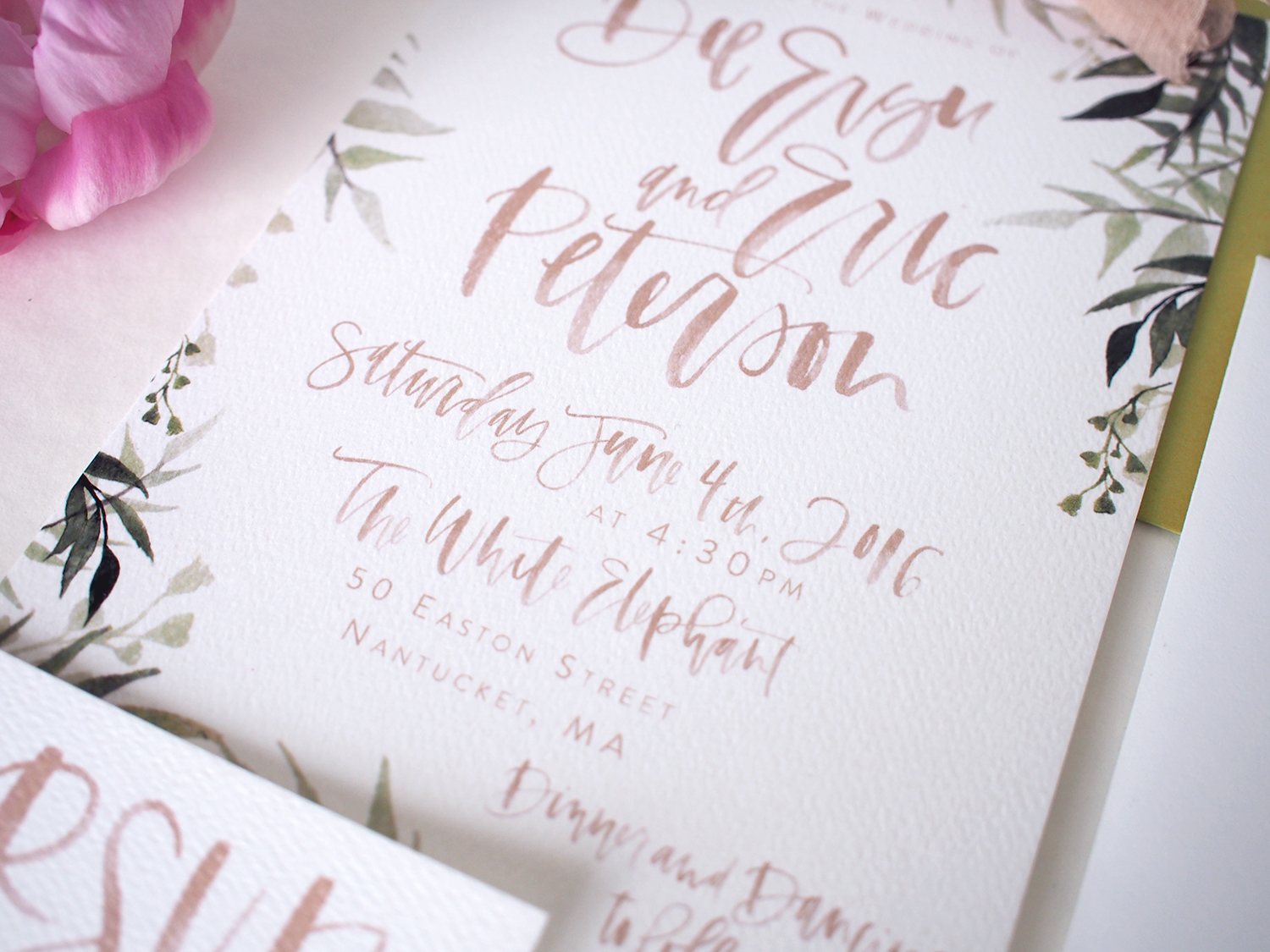 custom day of wedding paper goods | a fabulous fete