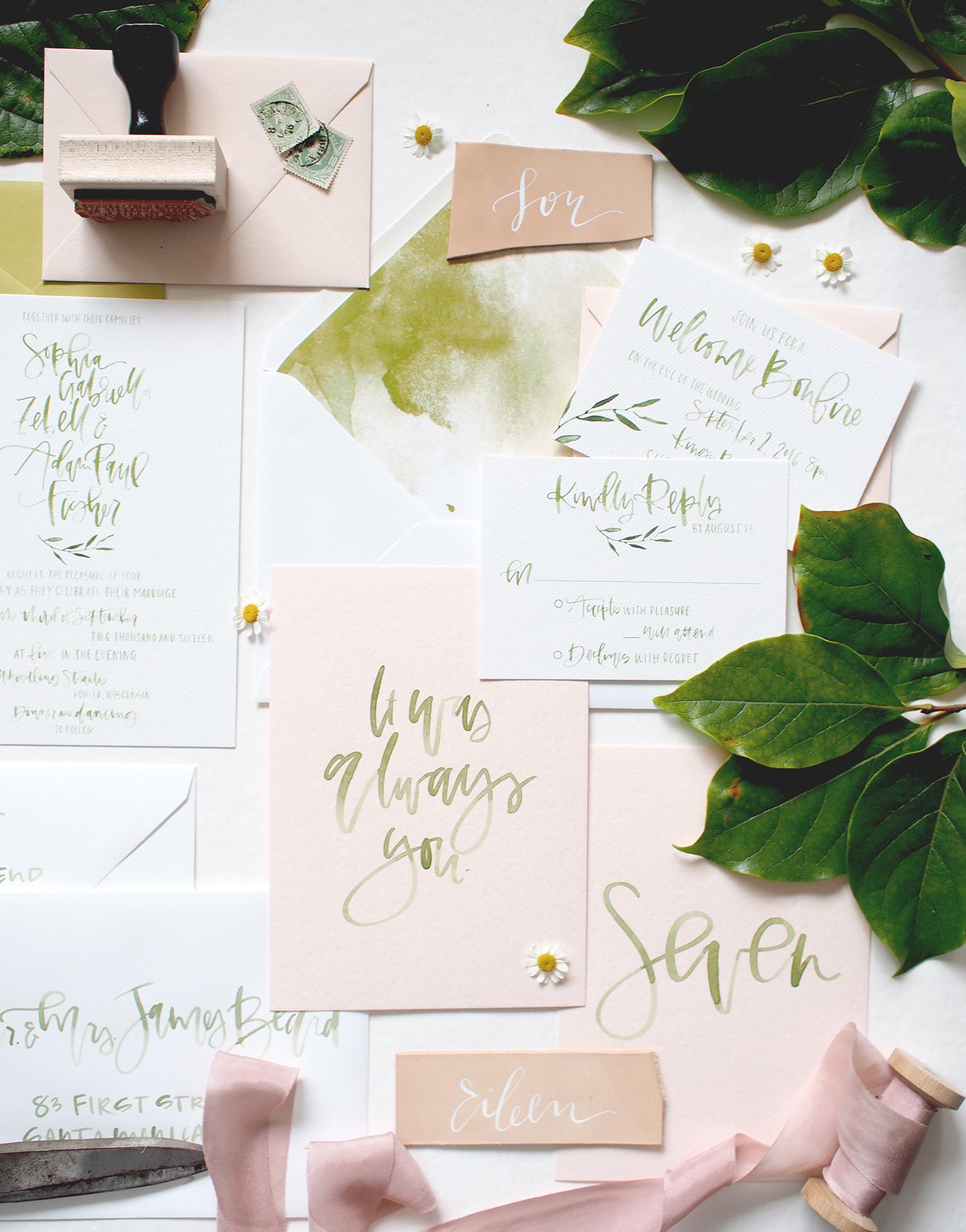 light green and blush color palette | A Fabulous Fete