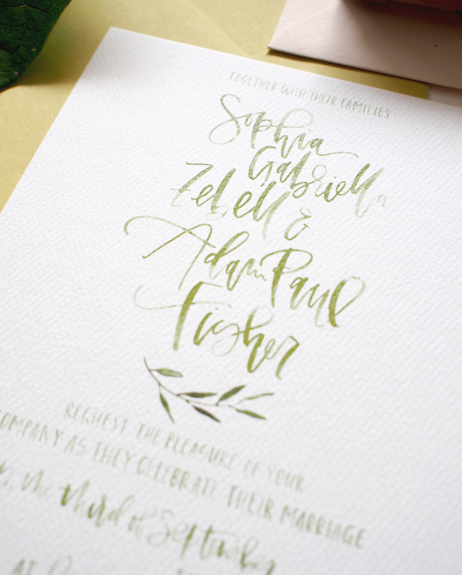 calligraphy hand lettering for weddings | A Fabulous Fete