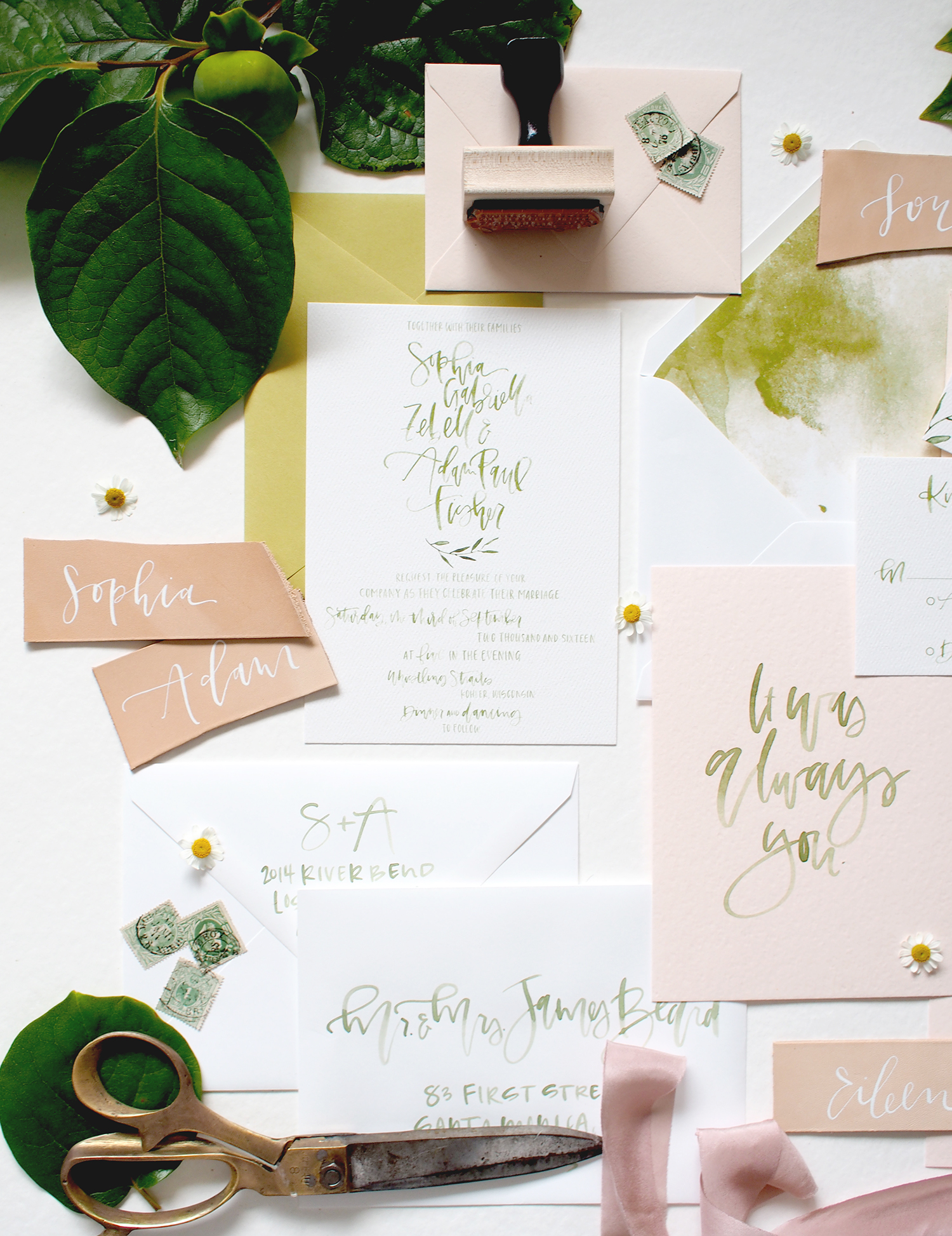 wedding envelope addressing by hand | A Fabulous Fete