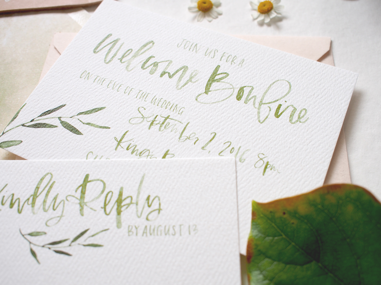 botanical details on wedding stationery | A Fabulous Fete