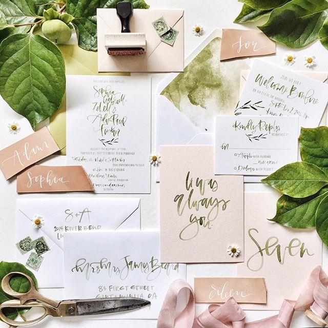 All green botanical wedding suite | A Fabulous Fete