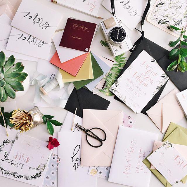Wedding season desk mess | A Fabulous Fete