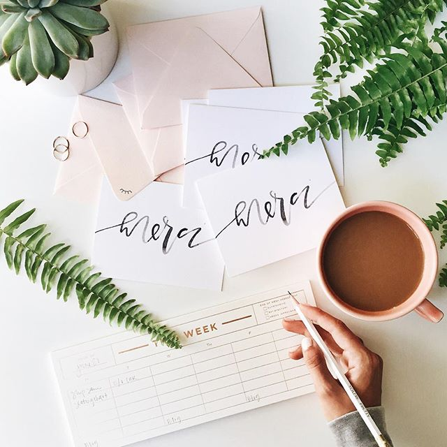 Merci notecards and coffee | A Fabulous Fete