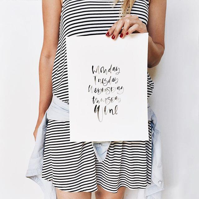 Black watercolor calligraphy quotes | A Fabulous Fete