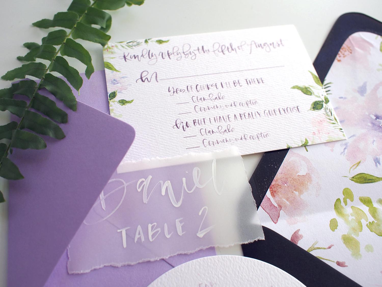 vellum wedding escort cards | A Fabulous Fete