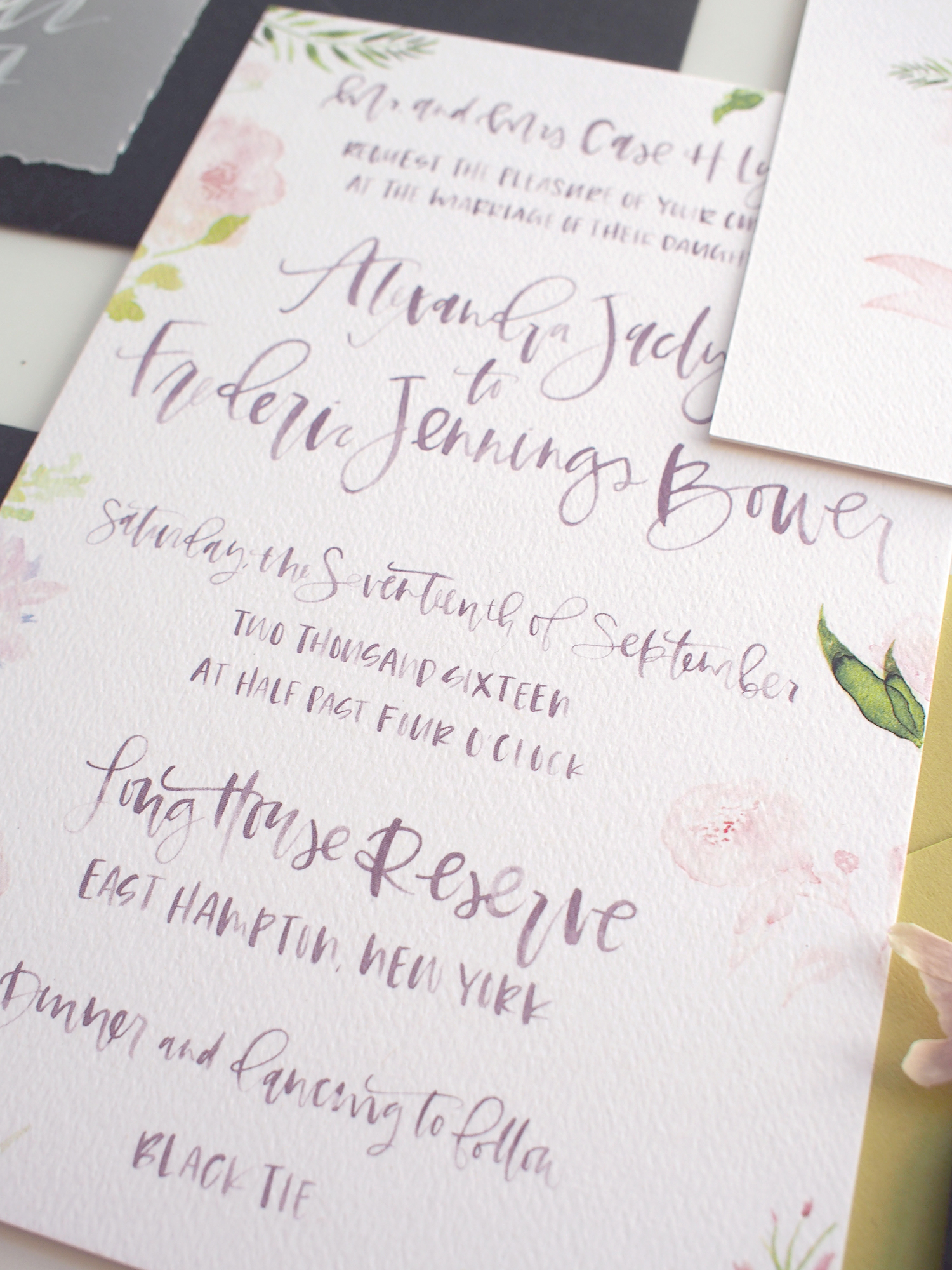 purple pink and green wedding invitation suite | A Fabulous Fete