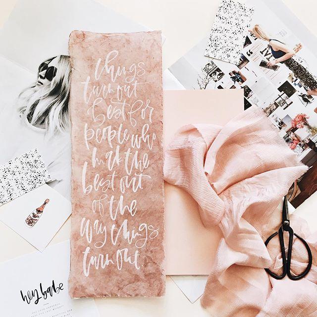 handmade paper calligraphy quote.jpg