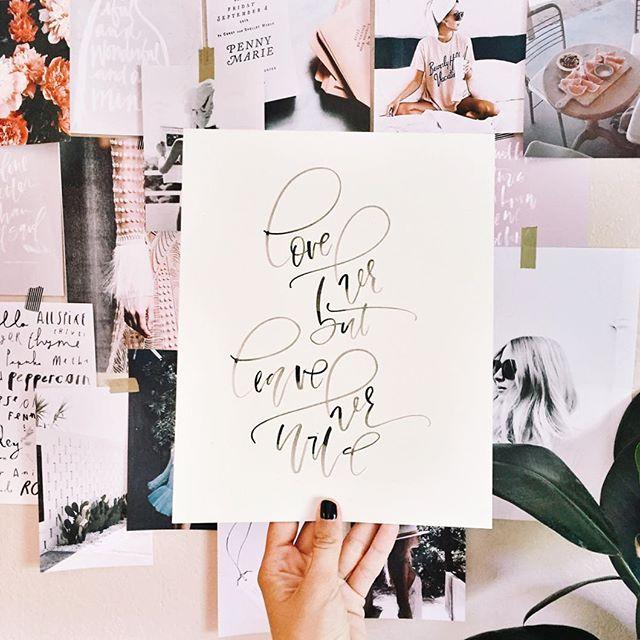 Calligraphy Print | A Fabulous Fete