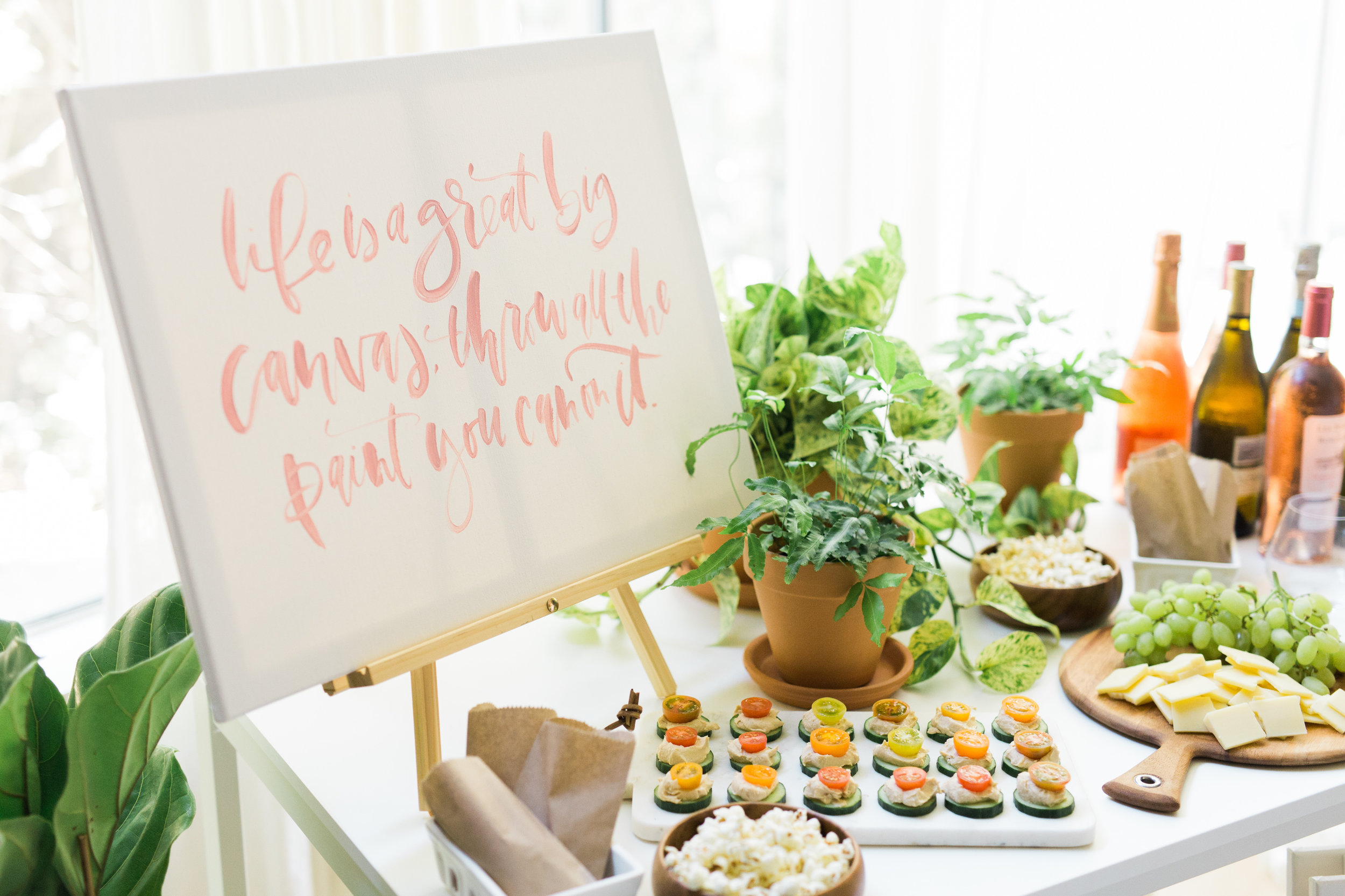 Snack table for a painting party | A Fabulous Fete