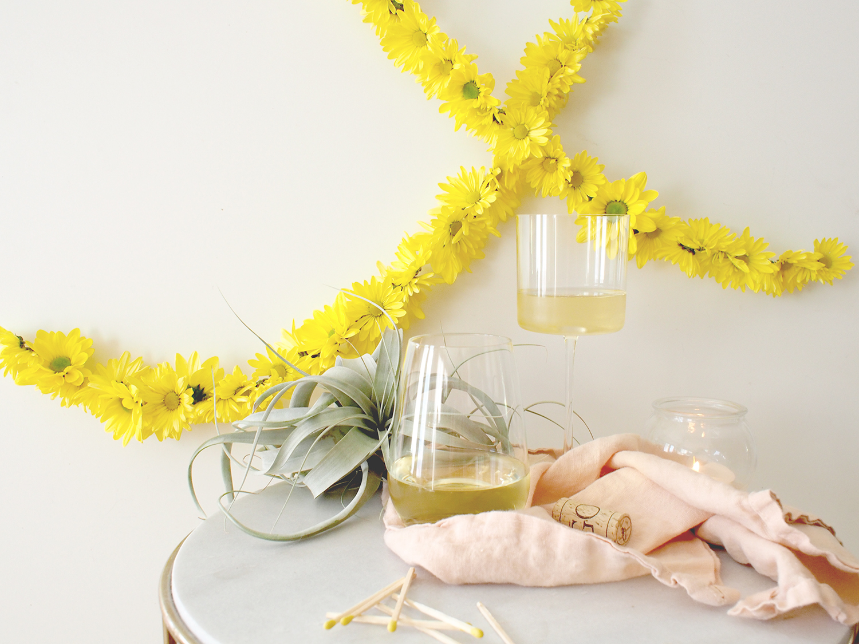 Floral garland bar backdrop | A Fabulous Fete