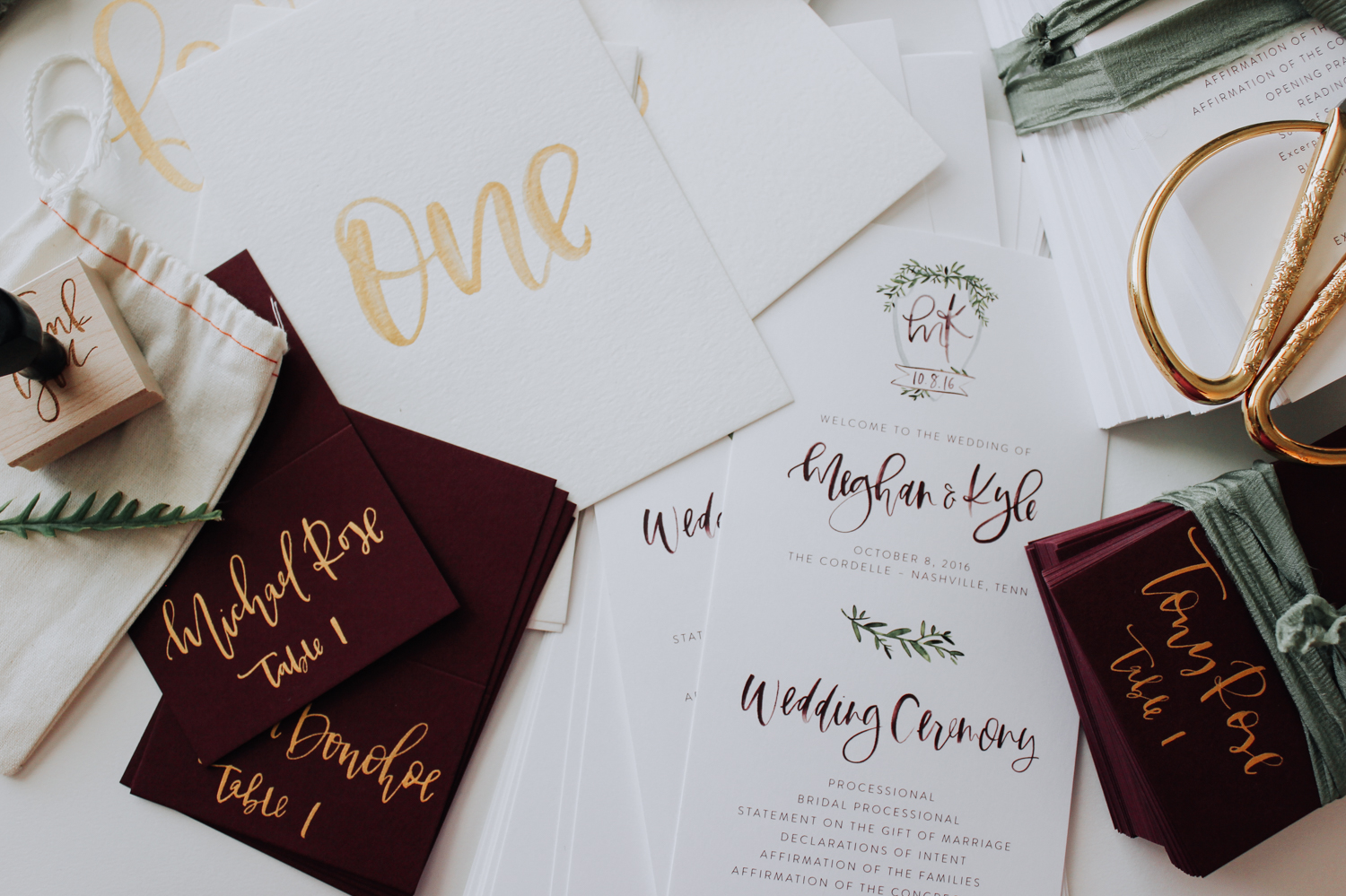 Real wedding stationery for Fall | A Fabulous Fete