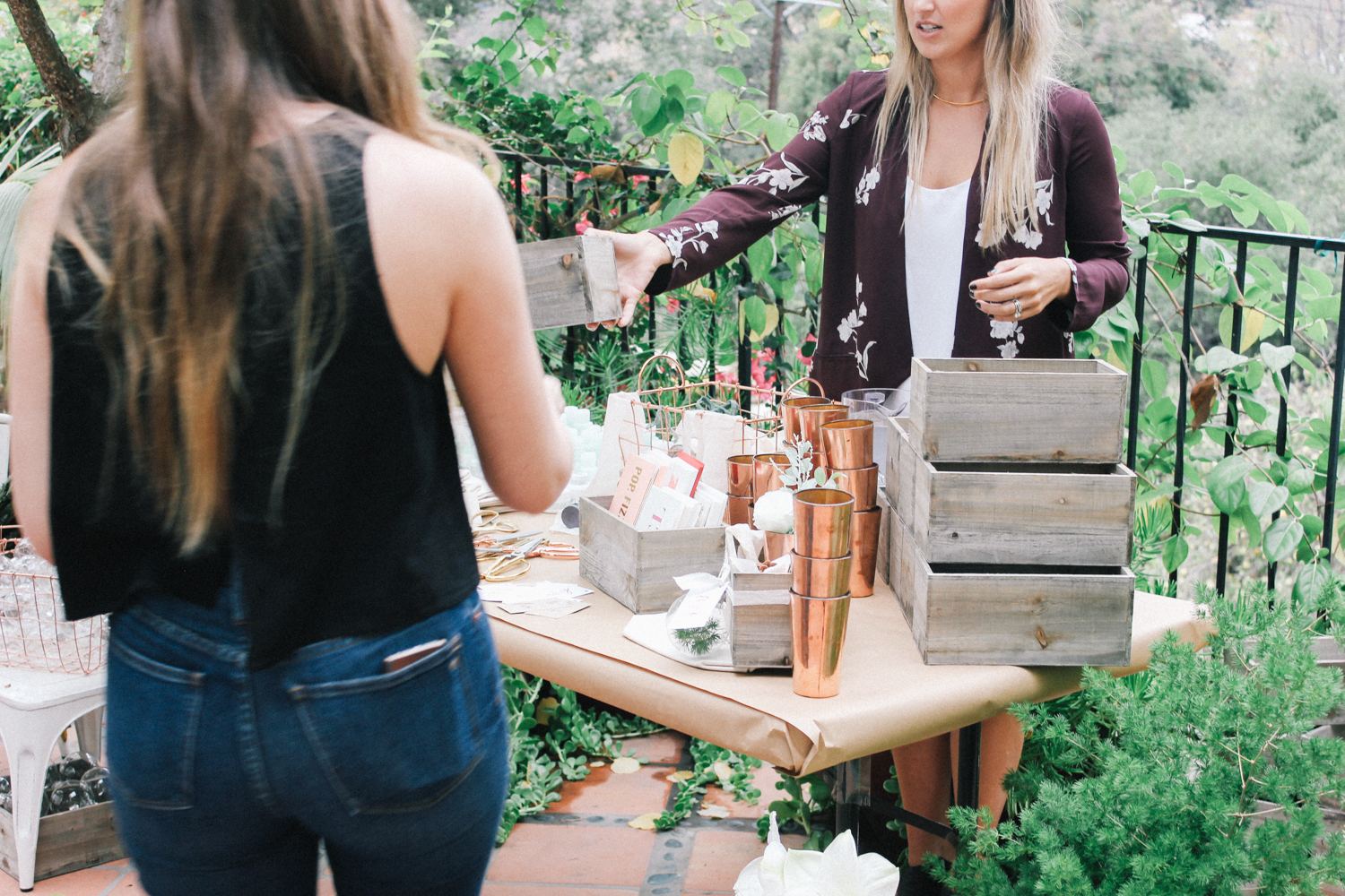 Outdoor crafting area | A Fabulous Fete