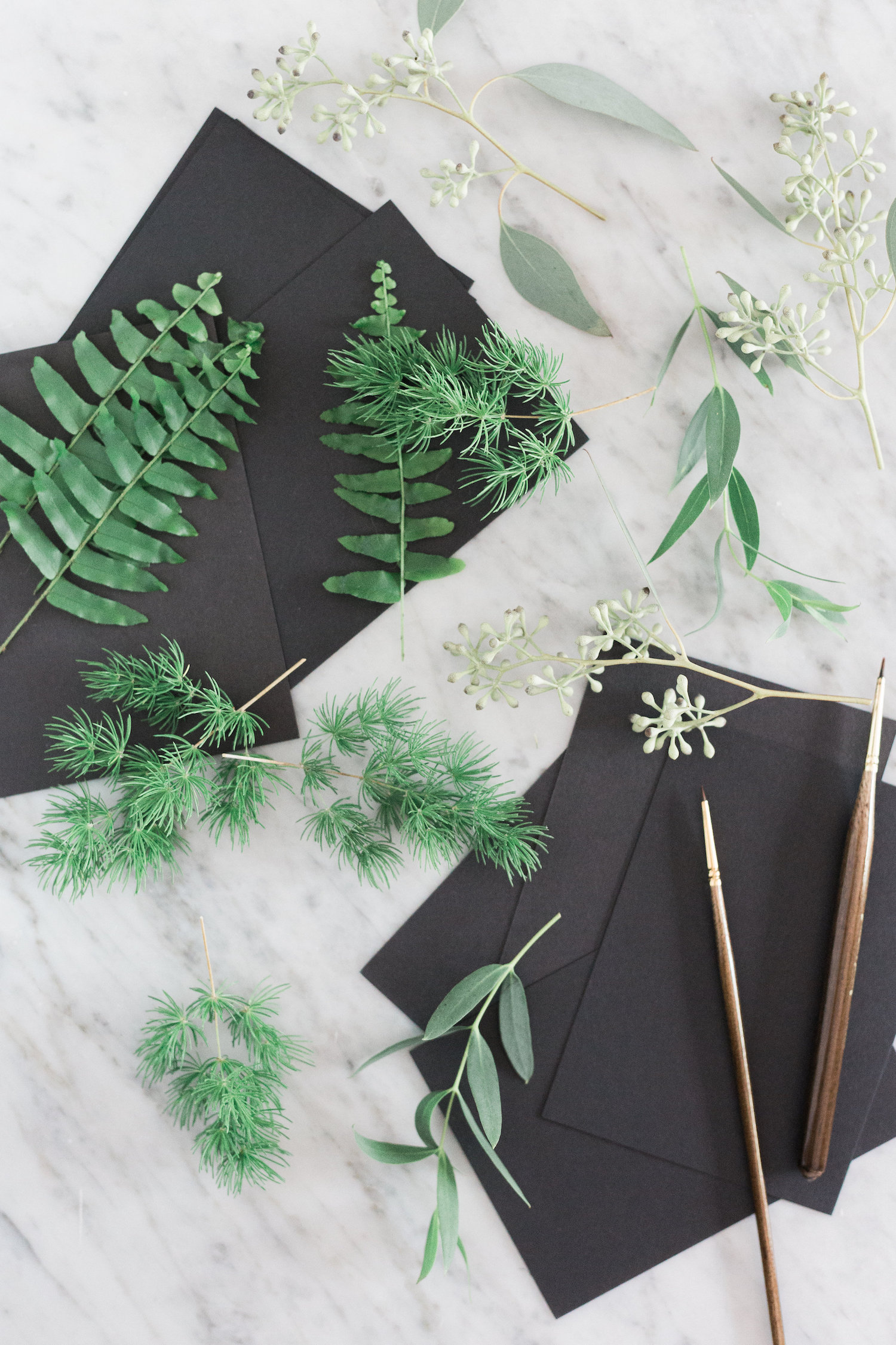Supplies for DIY living escort or place cards | A Fabulous Fete