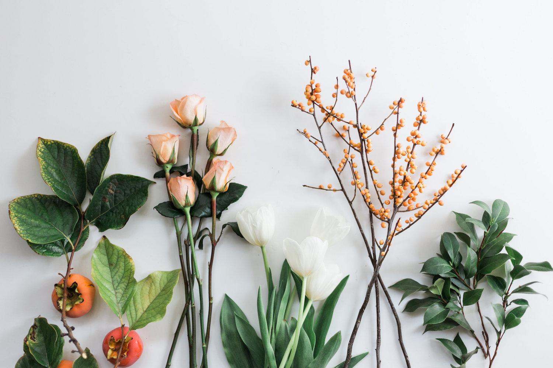 Ingredients for a fall flower arrangement | A Fabulous Fete
