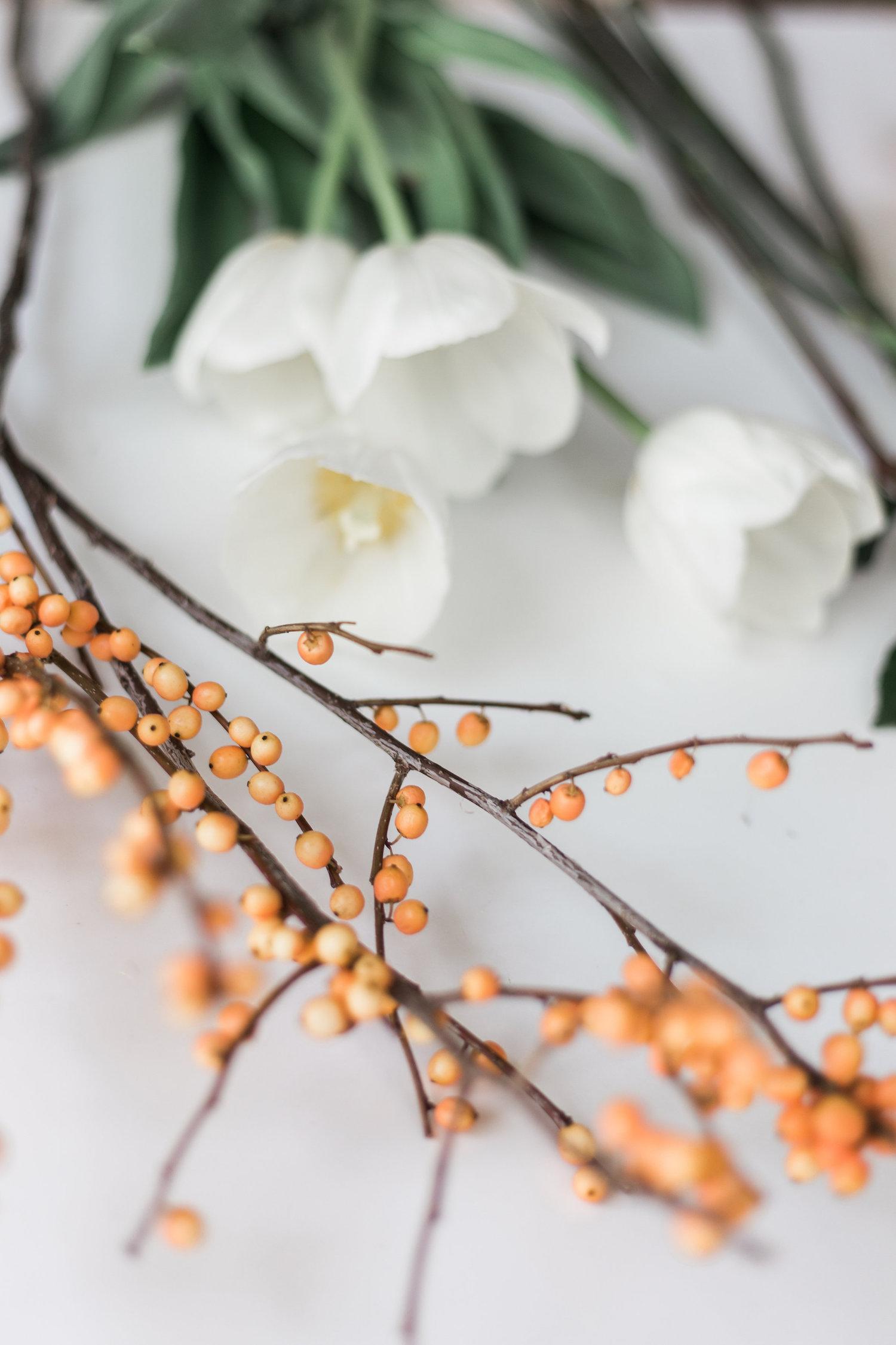 Simple berries make any flower arrangement a little more festive | A Fabulous Fete