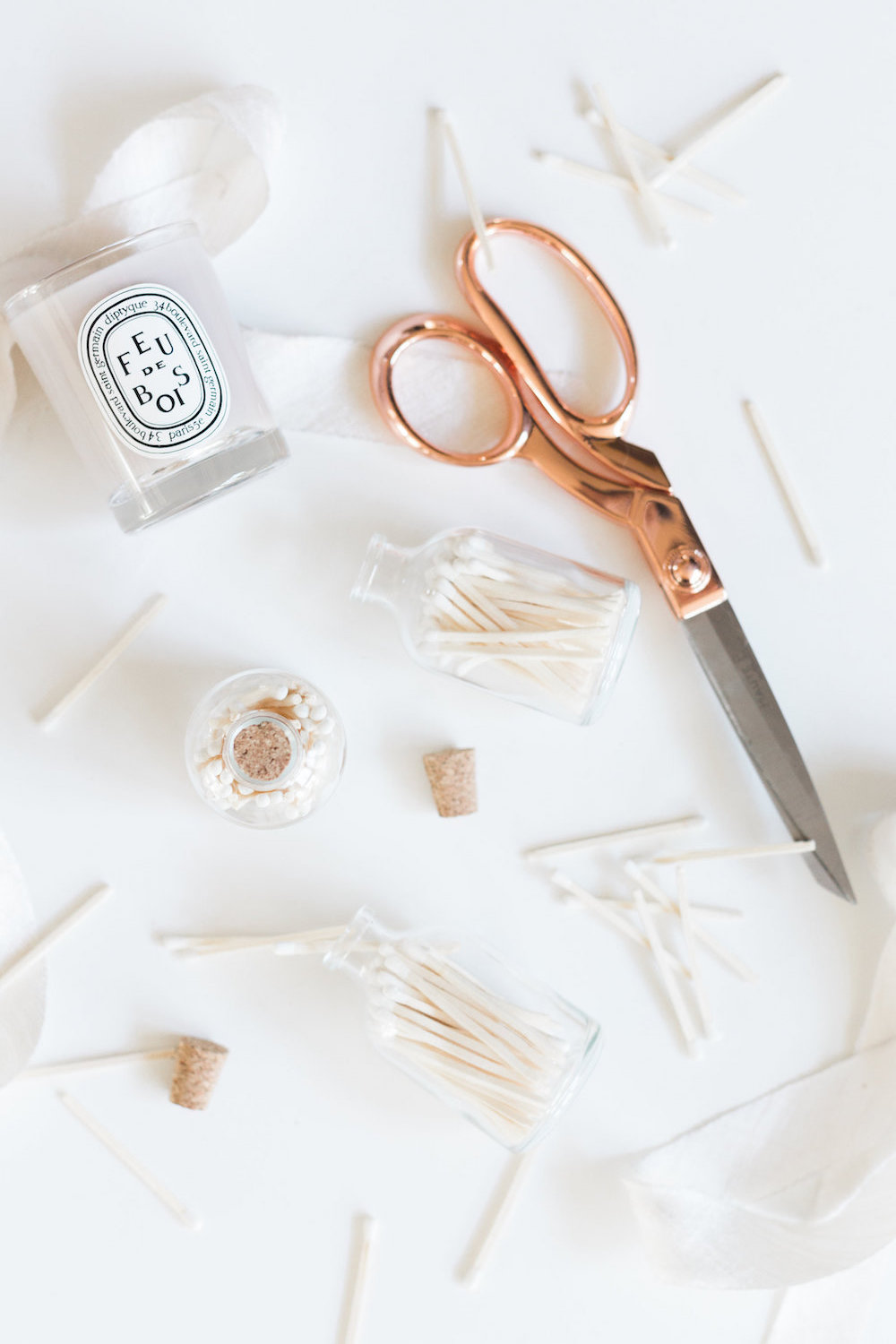 How to make a DIY matchstick bottle that decoratively displays matches for your candles | A Fabulous Fete