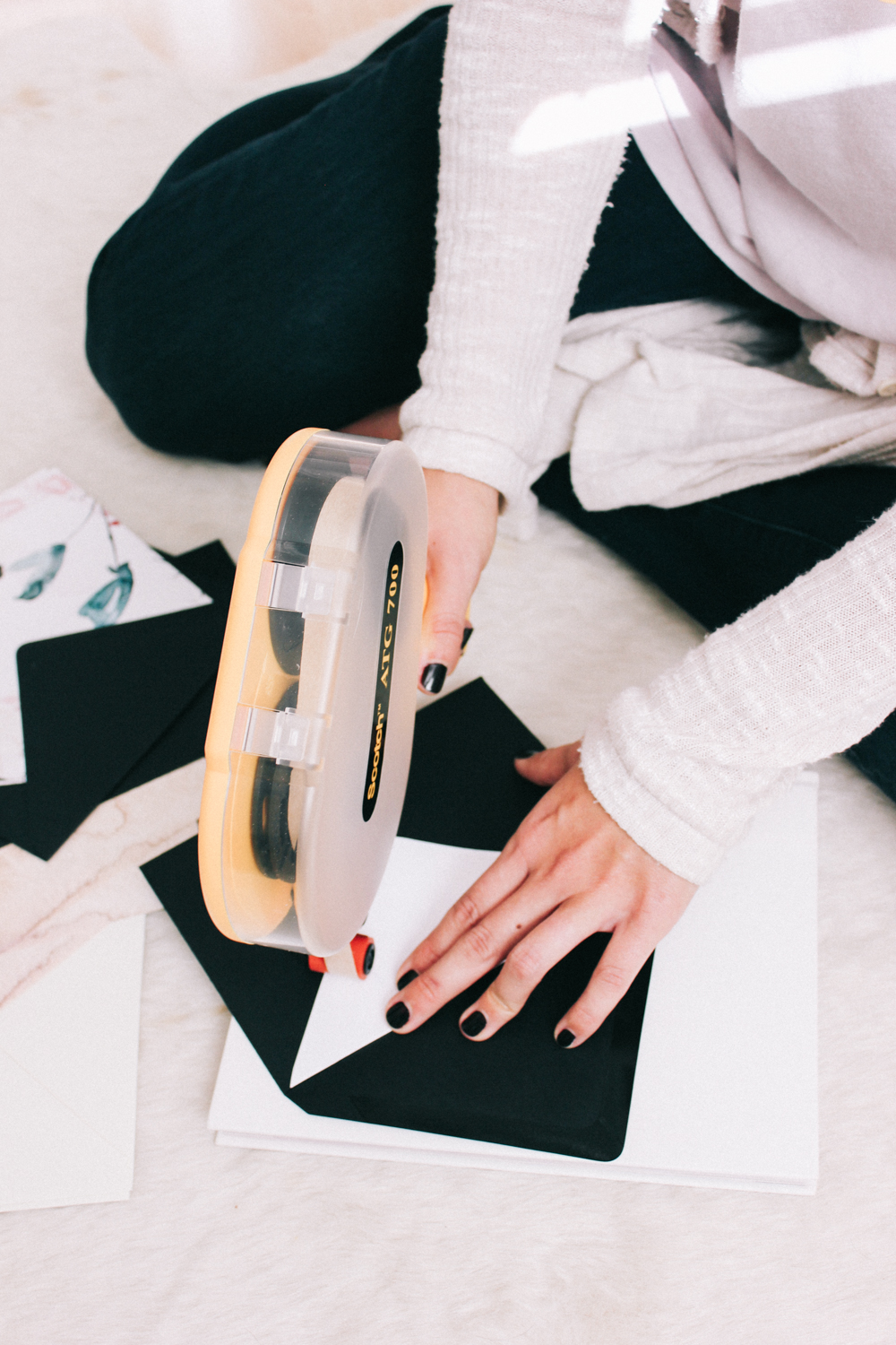 How to use an adhesive applicator for lining envelopes | A Fabulous Fete