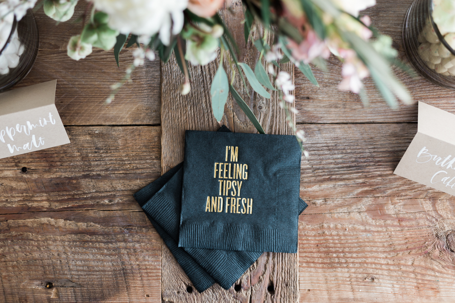 Gold Foil Cocktail Napkins | A Fabulous Fete