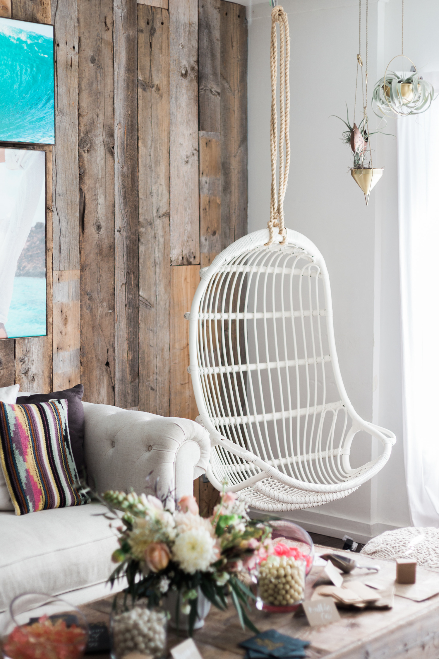 Beach bungalow swing chair | A Fabulous Fete
