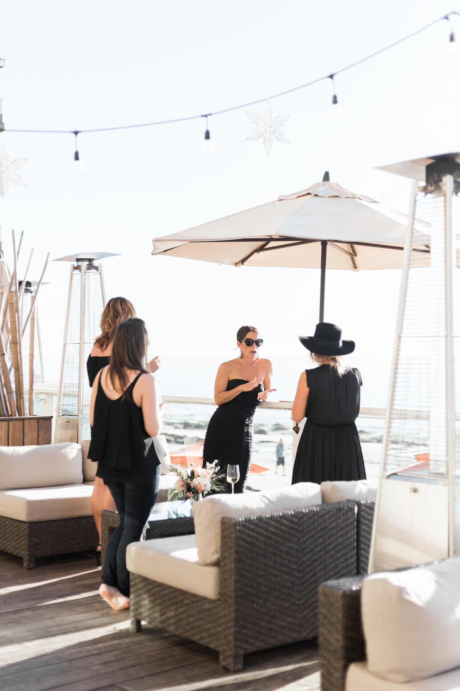 Winter parties in California! We celebrated with our team in the bungalows at Pacific Edge Hotel in Laguna Beach | A Fabulous Fete