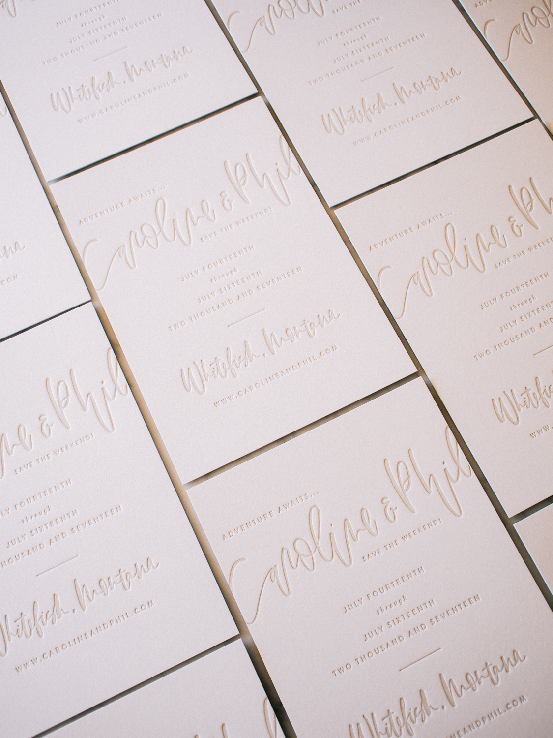 Hand lettered semi-custom save the dates   A Fabulous Fete