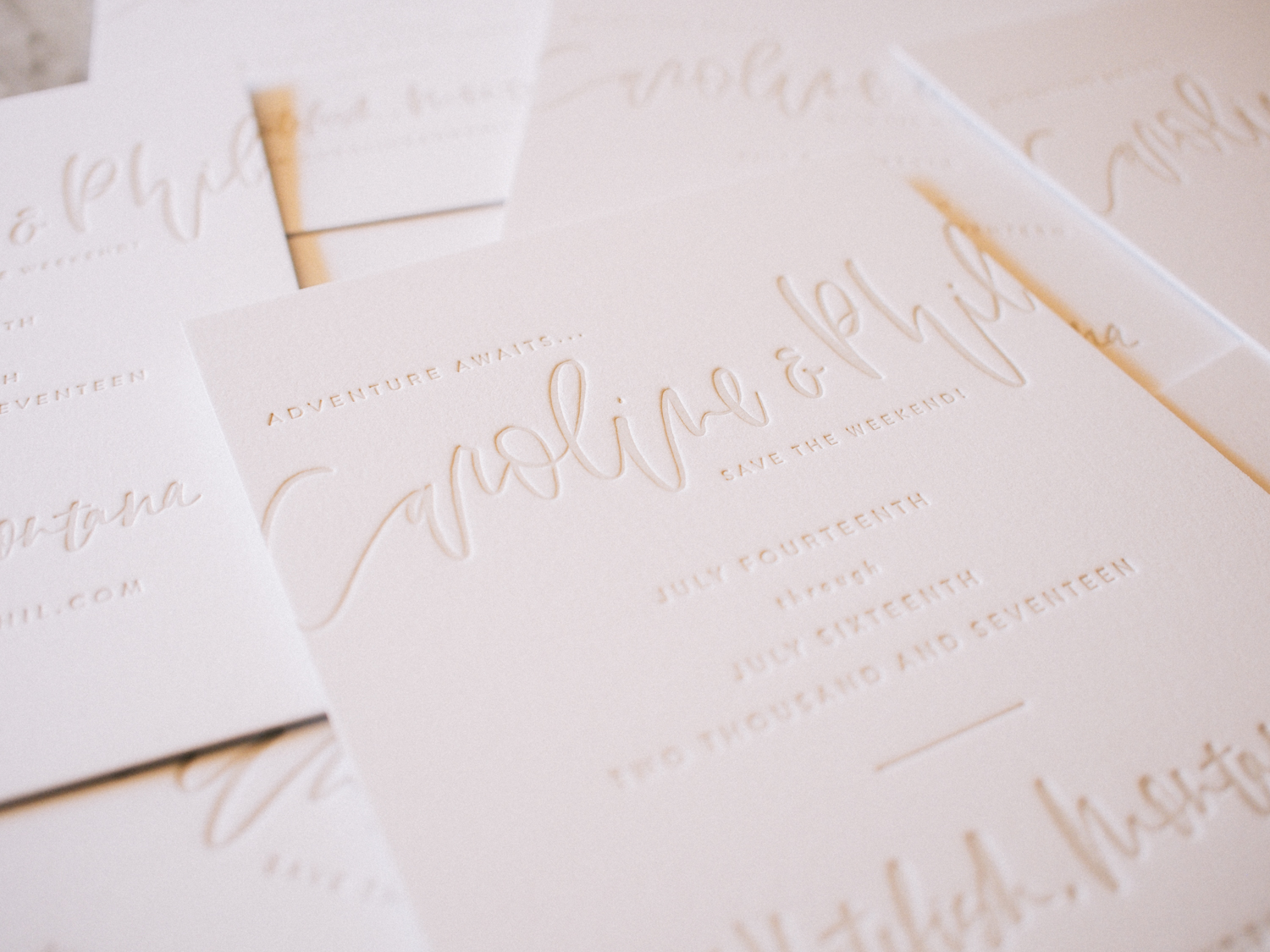 Save the dates with brush lettering and letterpress   A Fabulous Fete