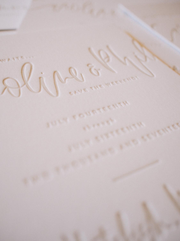 Letterpress details   A Fabulous Fete
