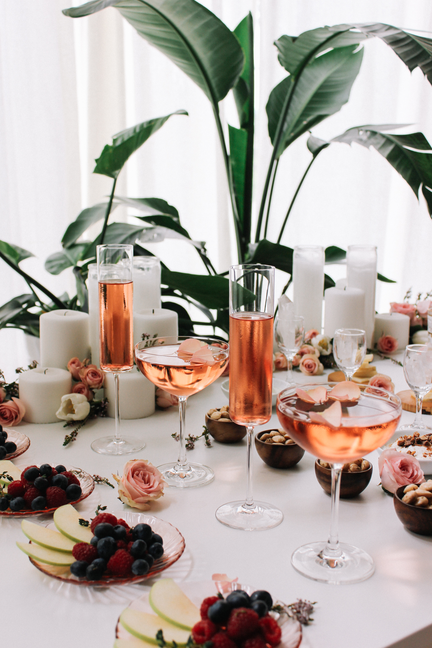 A table full of sweet and salty for a girls night  | A Fabulous Fete