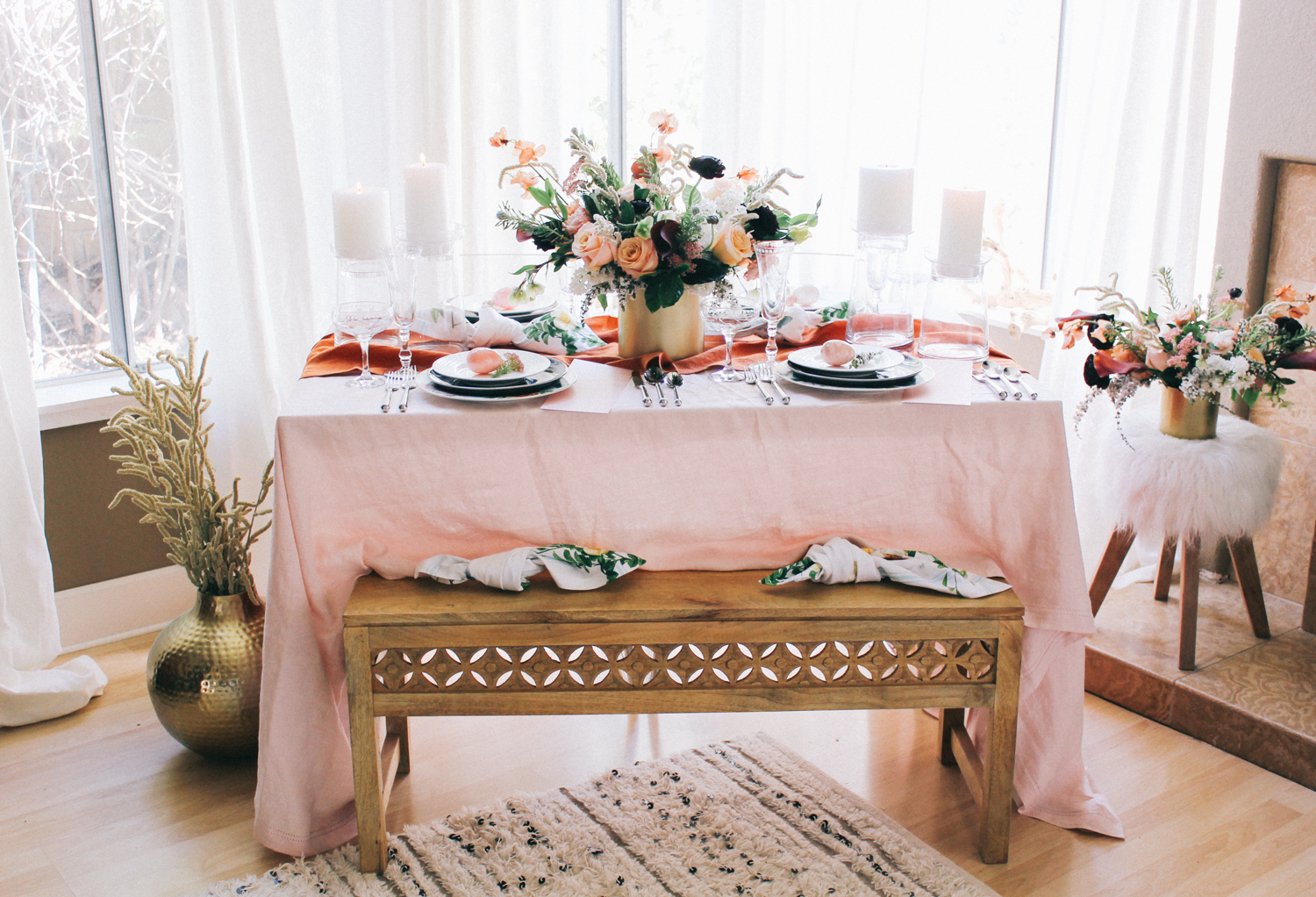 Blush and rust tabletop inspiration | A Fabulous Fete