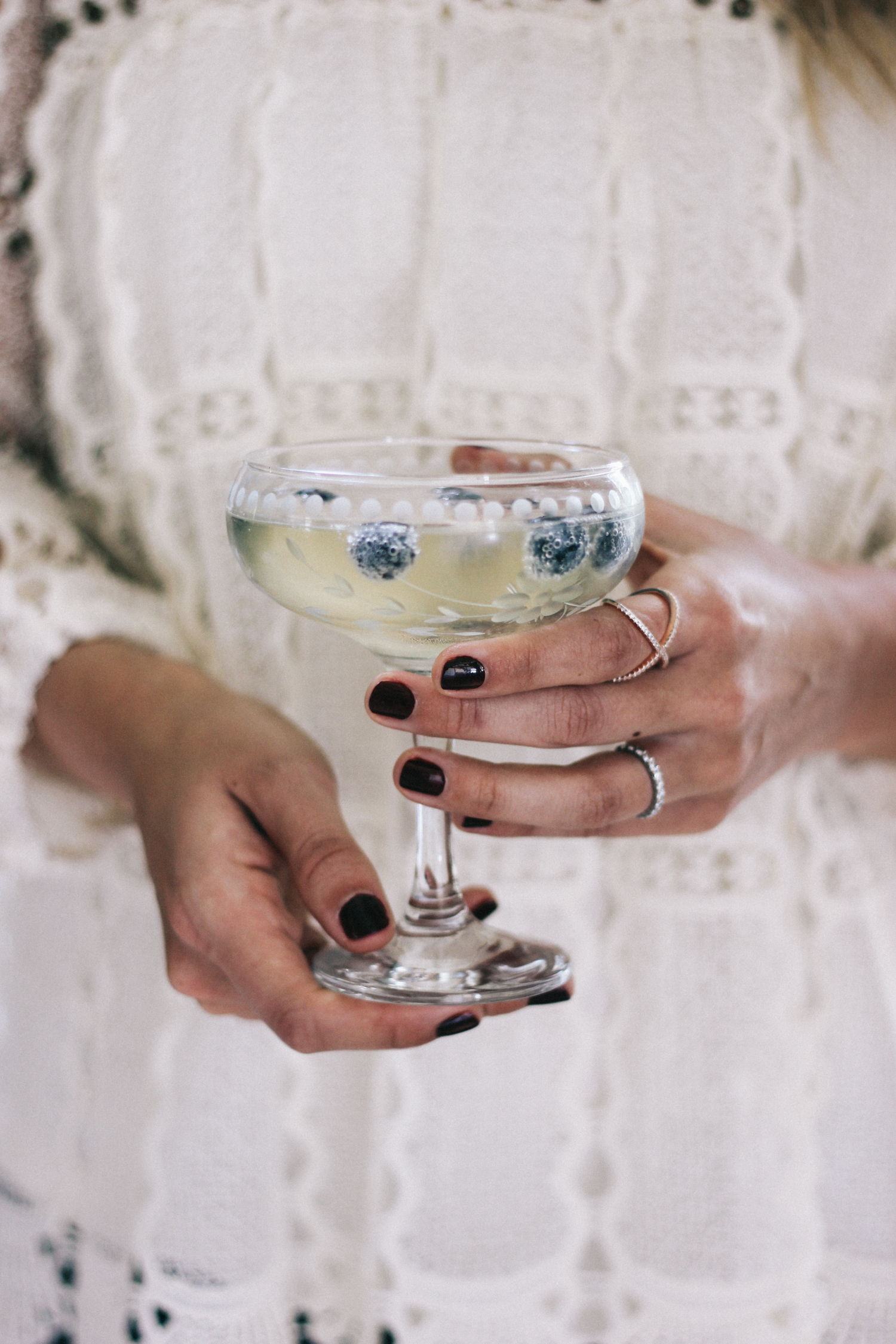 Etched champagne coupes that instantly dress up any spring brunch | A Fabulous Fete