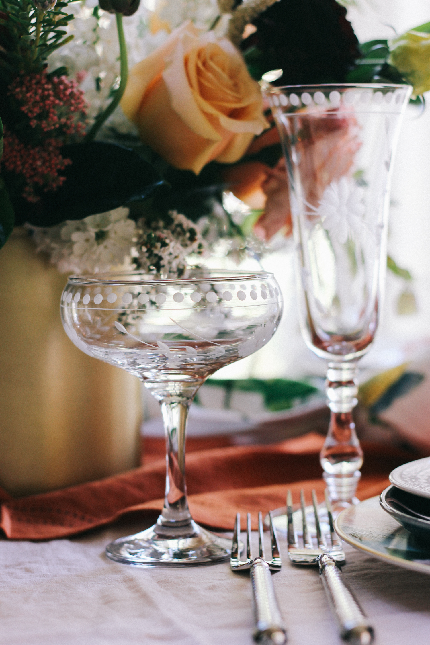 Champagne coupes and flutes - Williams Sonoma | A Fabulous Fete