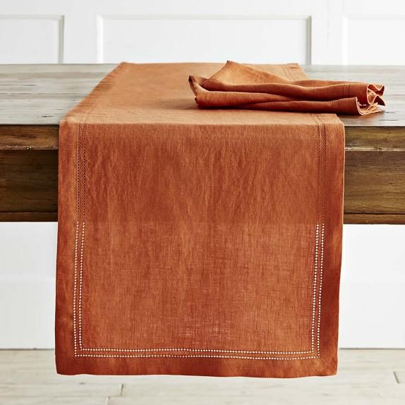 Rust Linen Table Runner