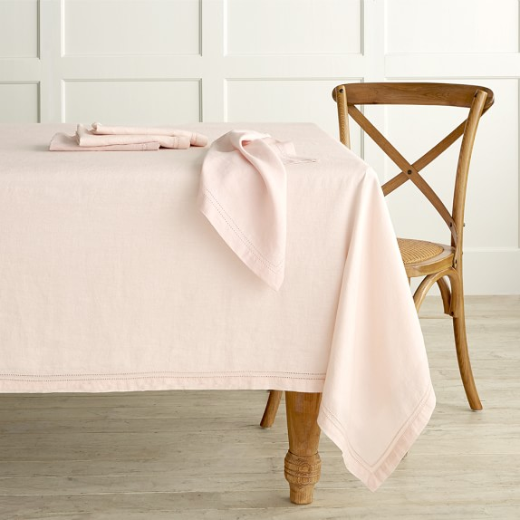 Blush Linen Tablecloth