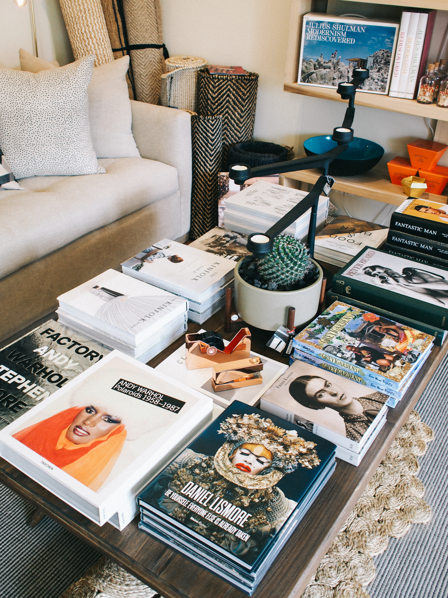 Dream coffee table at Vertigo Home in Laguna Beach | A Fabulous Fete