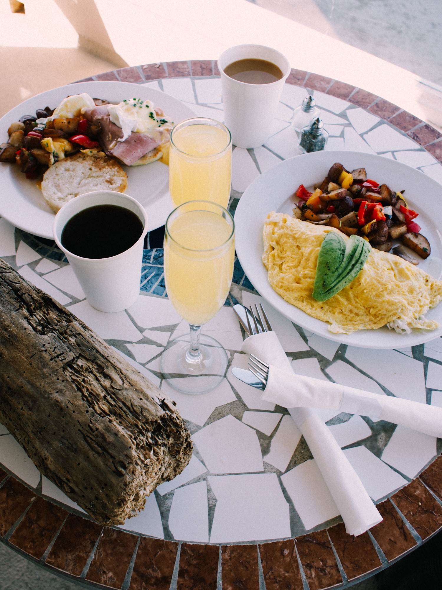 Breakfast on our deck at Pacific Edge Hotel | A Fabulous Fete