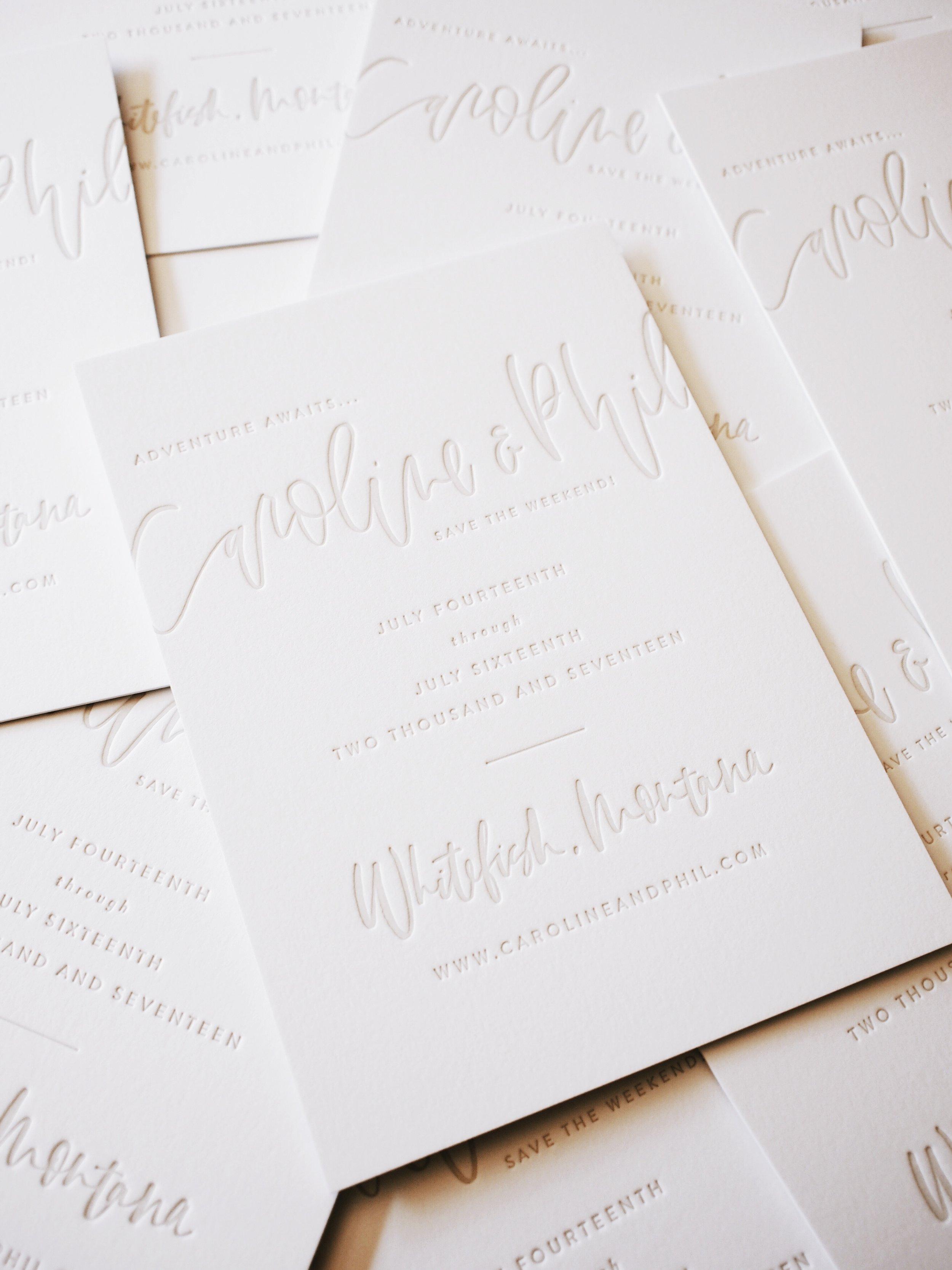 Letterpress Wedding Suite | A Fabulous Fete
