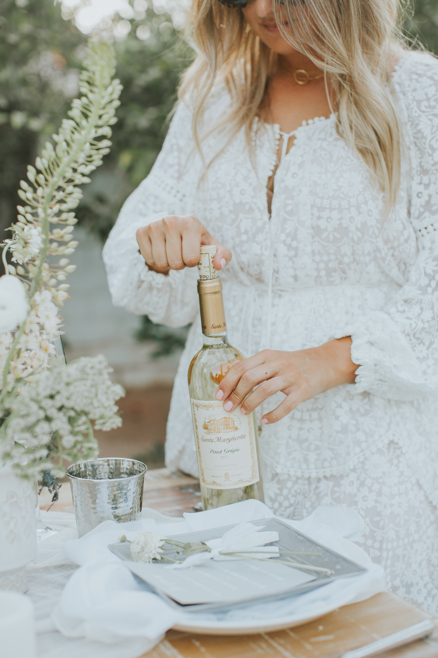 White dresses and white wine   A Fabulous Fete
