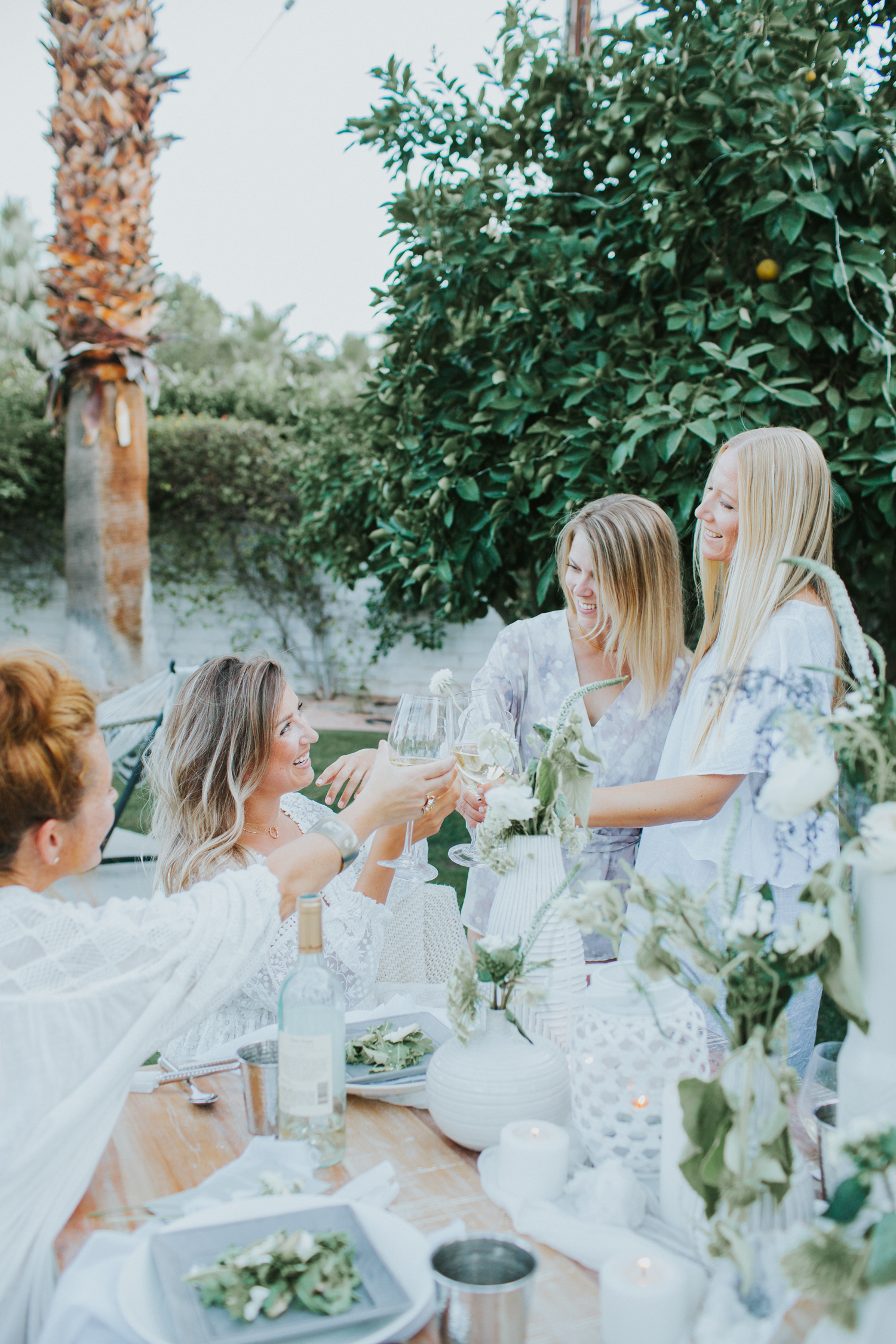 Ideas for hosting an all white summer gathering   A Fabulous Fete
