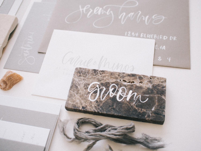 Neutral wedding stationery | A Fabulous Fete