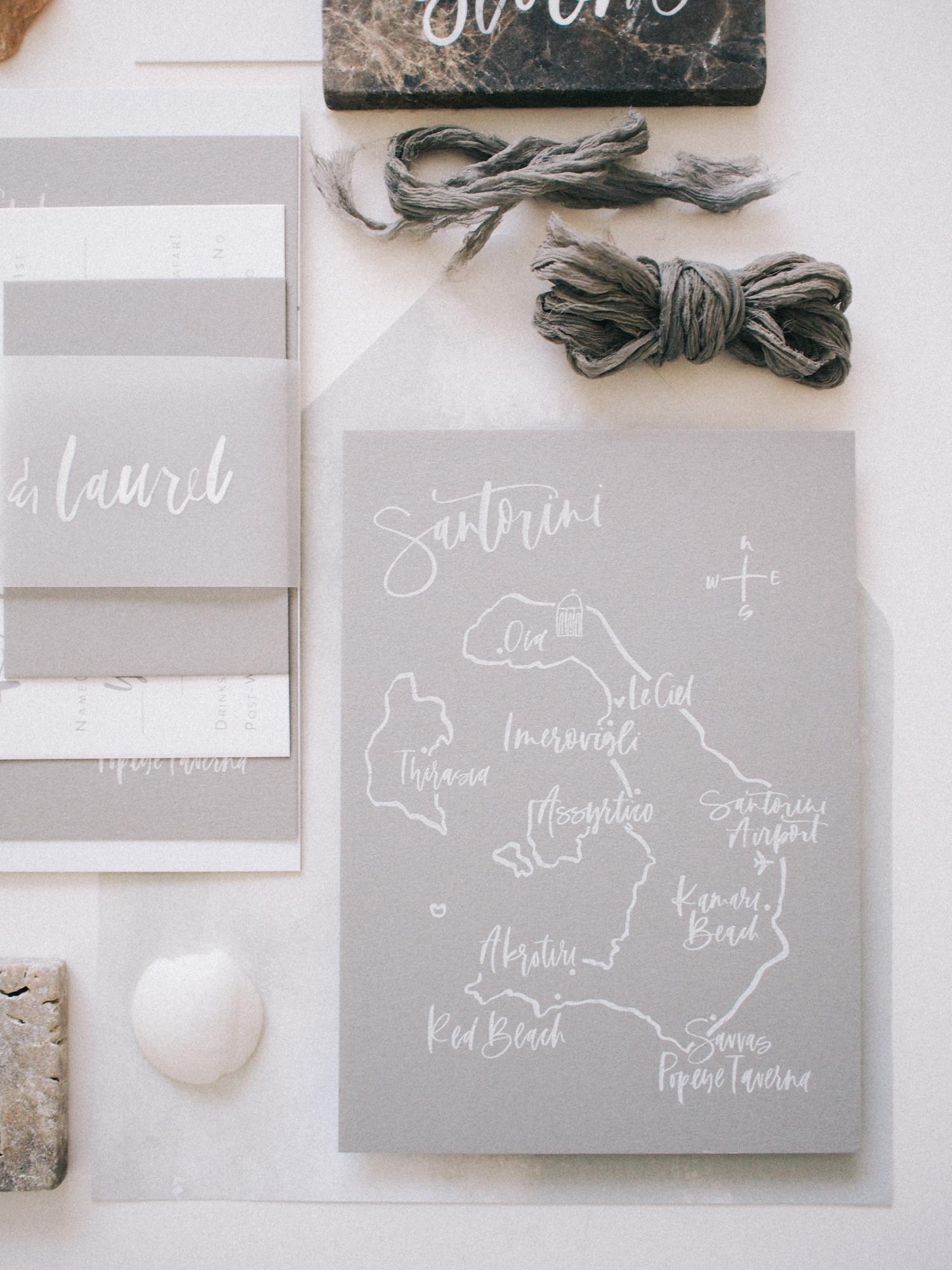 Grey letterpress wedding suite details | A Fabulous Fete