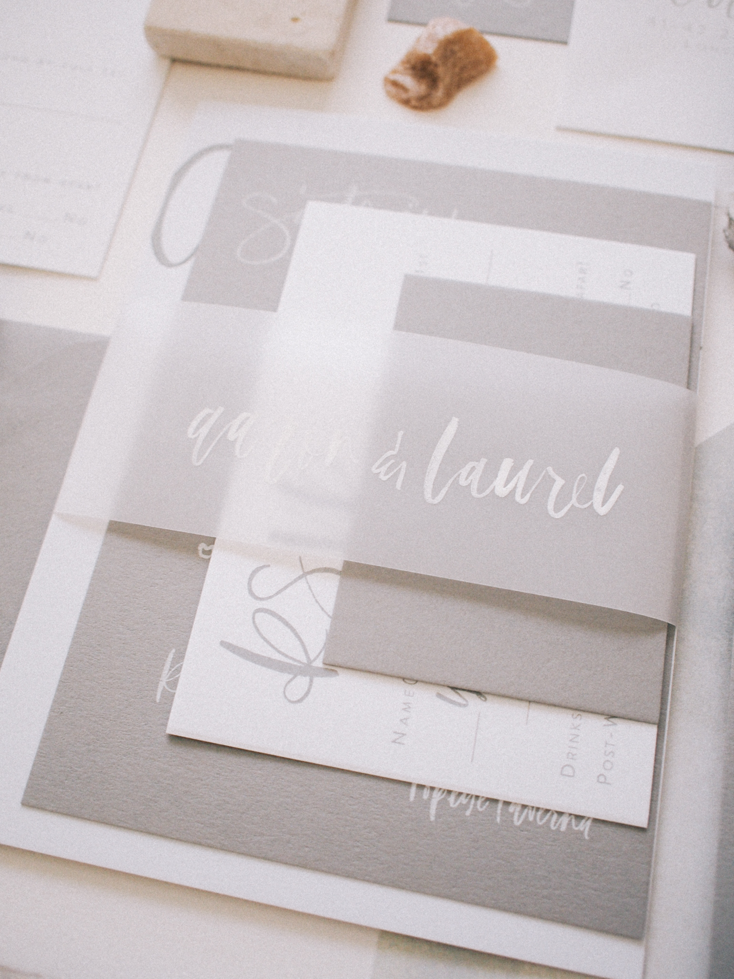 Vellum band lettered with guests names | A Fabulous Fete