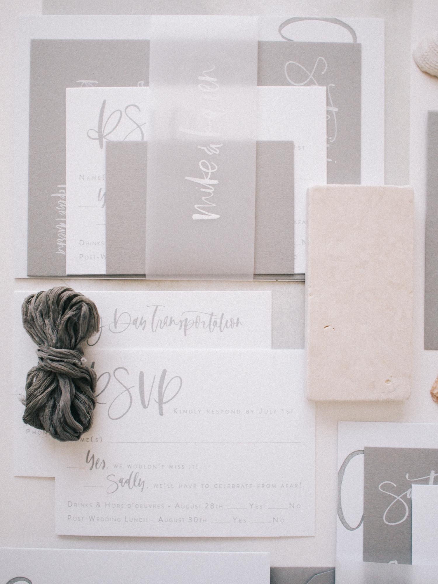 All grey wedding suite details | A Fabulous Fete