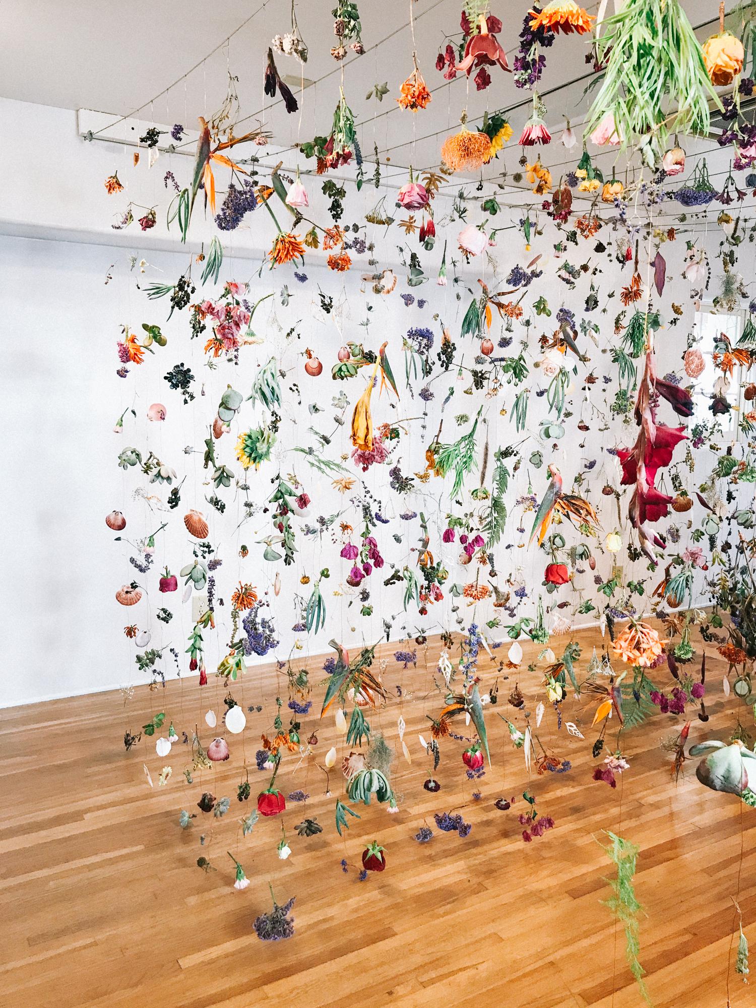 Dried flower installation | A Fabulous Fete