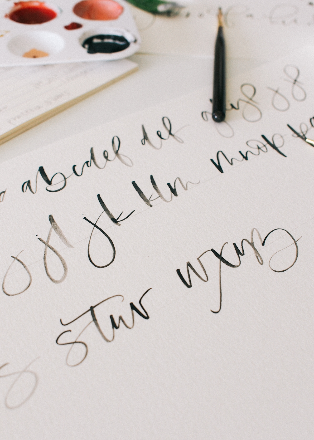 Making of my first lettering guide | A Fabulous Fete