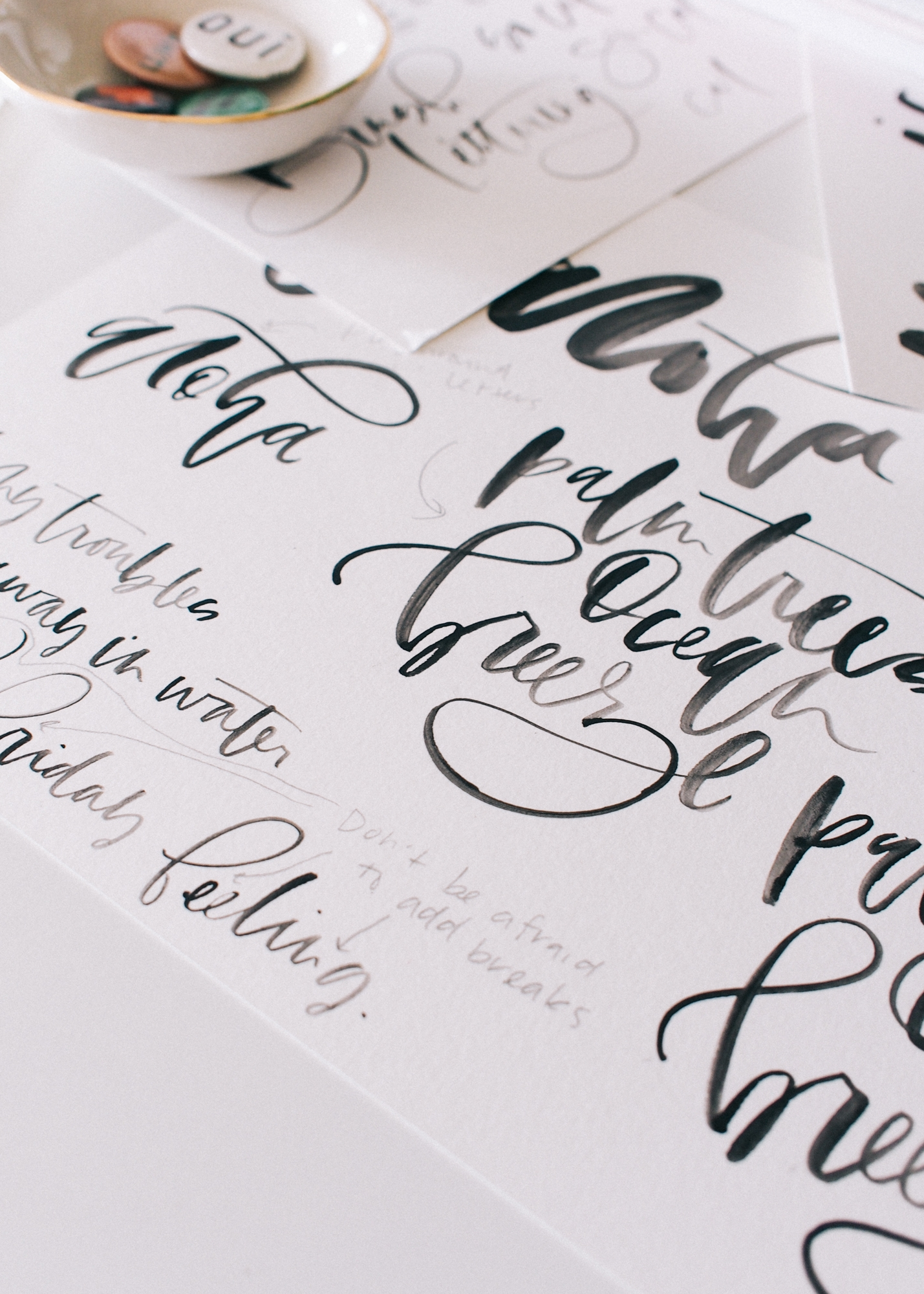 Lettering samples for a guide to hand lettering | A Fabulous Fete
