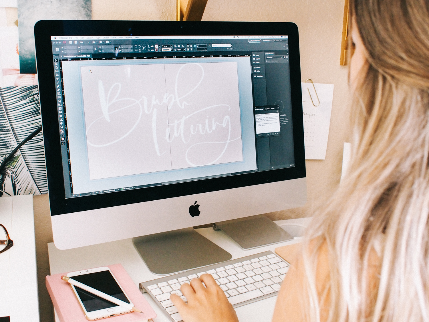 Editing my brush lettering guide | A Fabulous Fete