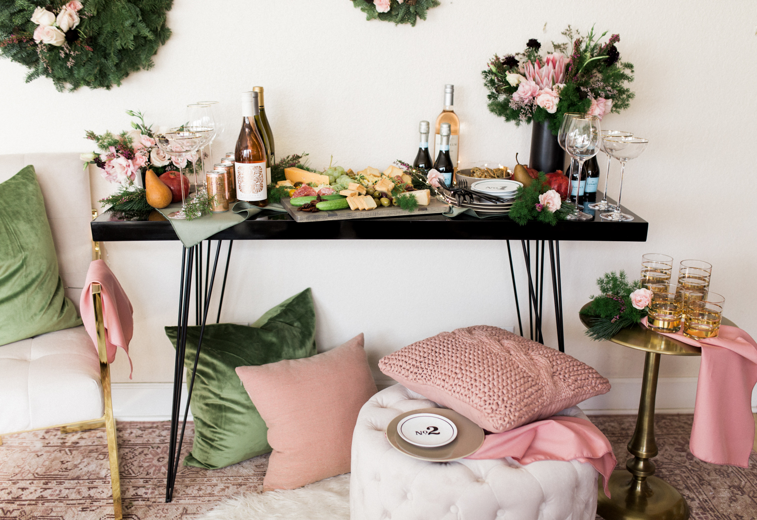 Easy party set up on a console table | A Fabulous Fete