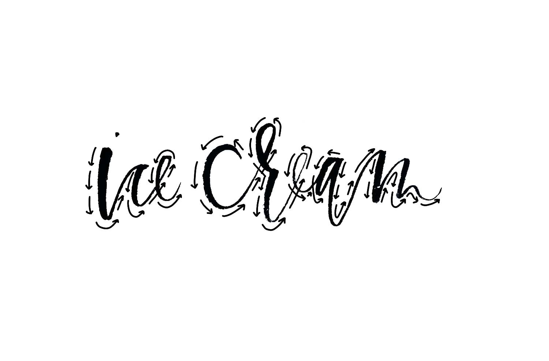 Lettering Guide, Ice Cream   A Fabulous Fete