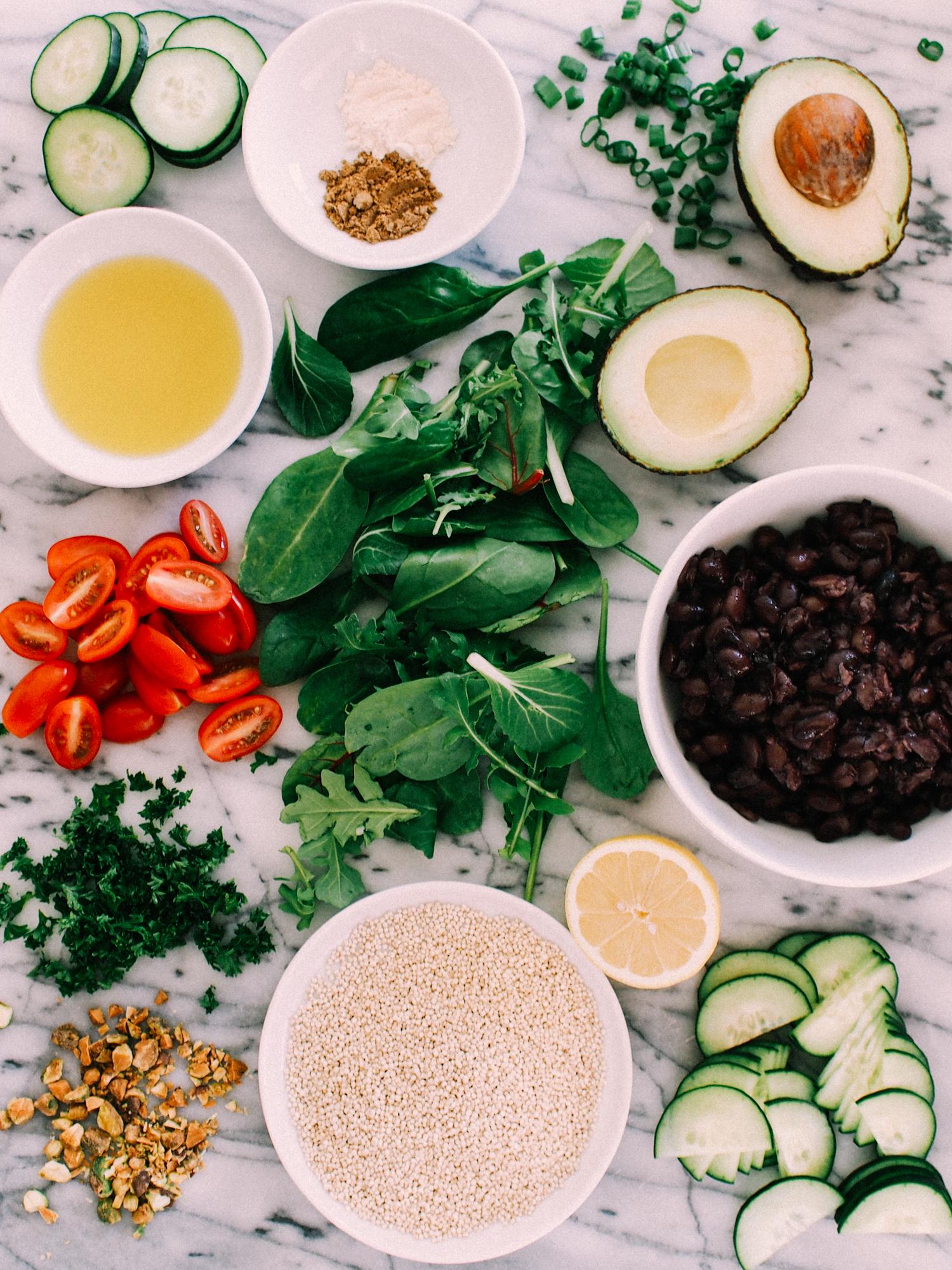 Simple weekday salad ingredients   A Fabulous Fete